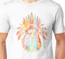 Watercolor, Native American Eagle, Headdress Unisex T-Shirt
