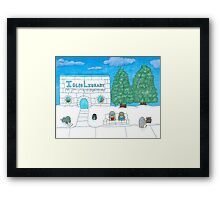 Penguin at the Library  Framed Print