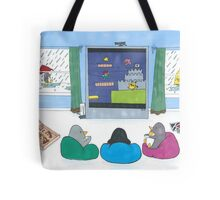 Penguins Playing Videogames Tote Bag