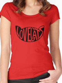 Lovecats - Black Women's Fitted Scoop T-Shirt