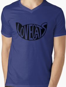 Lovecats - Black Mens V-Neck T-Shirt