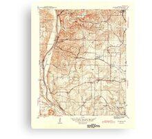 USGS TOPO Map Arkansas AR Bethesda 259938 1942 31680 Canvas Print