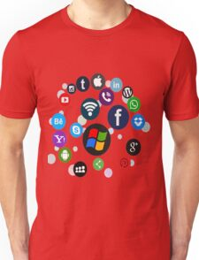 Funny Social Media Unisex T-Shirt