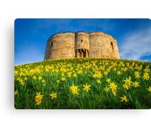 Cliffords Tower Spring Canvas Print