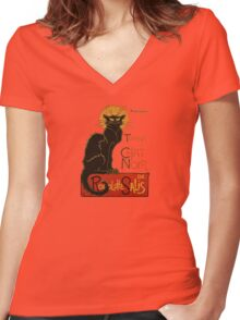Le Chat Noir Women's Fitted V-Neck T-Shirt