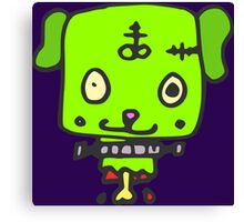 Zombie puppy Canvas Print
