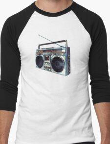 Radio Pattern Men's Baseball ¾ T-Shirt