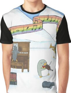 Penguin Musicians  Graphic T-Shirt