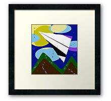 Paper airplane   Framed Print