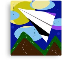 Paper airplane   Canvas Print