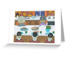 Penguins in the Kitchen Greeting Card