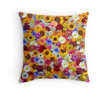 Colorful Floral Wallpaper Throw Pillow