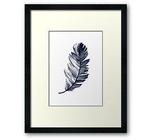 Feather Art Print Room Decoration Illustration Blue Poster Framed Print
