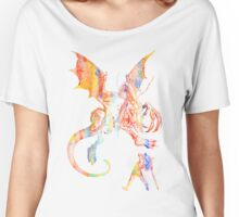 Alice vs The Jabberwocky Watercolor Women's Relaxed Fit T-Shirt