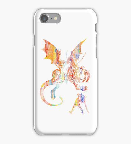 Alice vs The Jabberwocky Watercolor iPhone Case/Skin