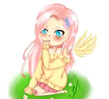 Chibi Fluttershy humanised by woostersauce
