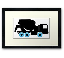 Cement Truck Icon Framed Print