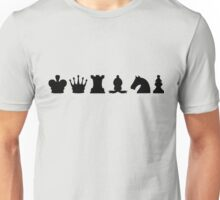 Chess Set Pieces Silhouettes Unisex T-Shirt