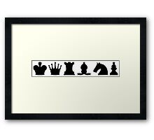 Chess Set Pieces Silhouettes Framed Print