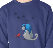 Derpkitty & bird Pullover