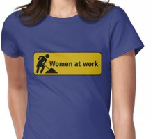 Women at work (Sign) Womens Fitted T-Shirt