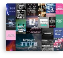 Song quotes collage #6 Canvas Print