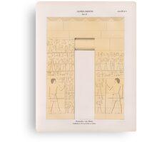 0205 Dynastie IV Pyramiden von Abusir Abû Sîr Site Grab 6 Grabkammer No1 im K Museum zu Berlin Canvas Print