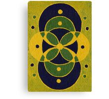 Green and Blue Overlapping Circles Canvas Print