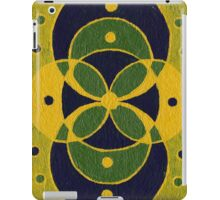 Green and Blue Overlapping Circles iPad Case/Skin