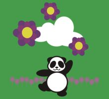 Flowery Panda Dance Kids Clothes