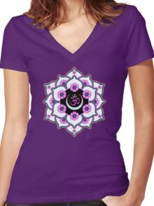 Crown Chakra Women's Fitted V-Neck T-Shirt