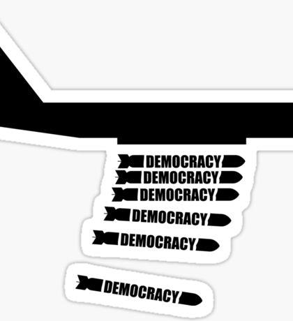 Democracy Plane Bomber Sticker