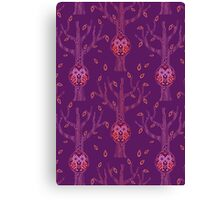 Owls In wood pattern Canvas Print