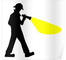 Detective Silhouette Clipart Poster