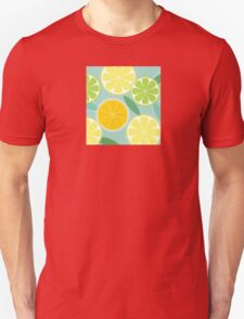 Citrus fruit background vector - Lemon, Lime and Orange Unisex T-Shirt