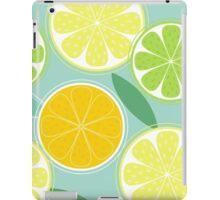 Citrus fruit background vector - Lemon, Lime and Orange iPad Case/Skin