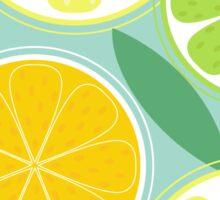Citrus fruit background vector - Lemon, Lime and Orange Sticker