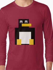 Cubed Penguin Long Sleeve T-Shirt