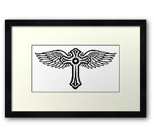 Cross with Wings Framed Print