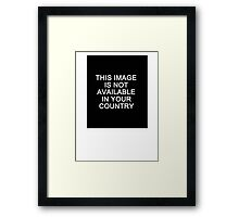 This image is not available in your country Framed Print