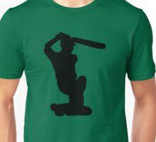 Cricket Player Silhouette Unisex T-Shirt