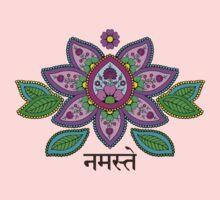 Mehndi Style Namaste Lotus Kids Clothes