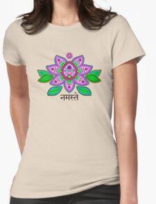 Mehndi Style Namaste Lotus T-Shirt