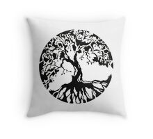 tree_roots_circle Throw Pillow