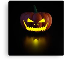 Halloween Pumpkin Lamp Canvas Print