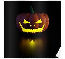 Halloween Pumpkin Lamp Poster