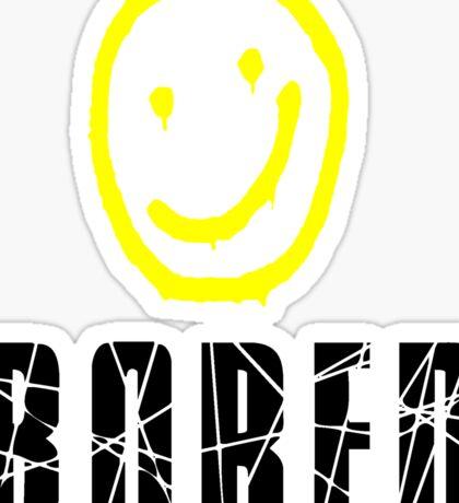Bored, Smiley Face, Sherlock Sticker