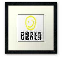 Bored, Smiley Face, Sherlock Framed Print