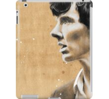 Charcoal & coffee Sherlock iPad Case/Skin