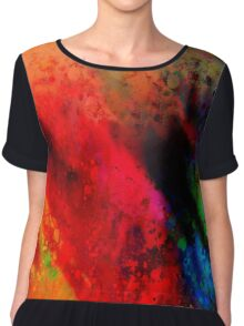 Red Hot abstract art Chiffon Top